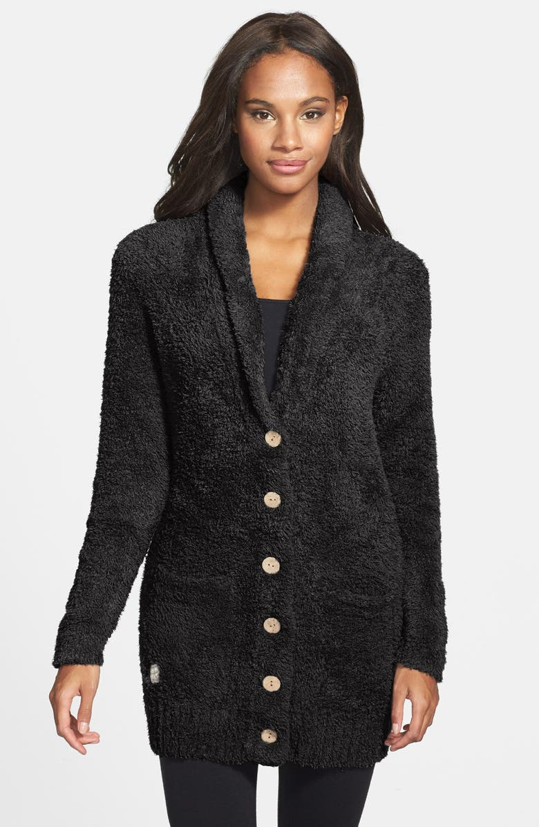 BAREFOOT DREAMS<SUP>®</SUP> Relaxed Fit CozyChic<sup>®</sup> Cardigan, Main, color, 001
