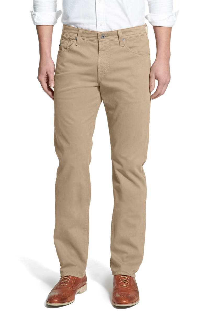 AG Graduate SUD Slim Straight Leg Pants, Main, color, KHAKI