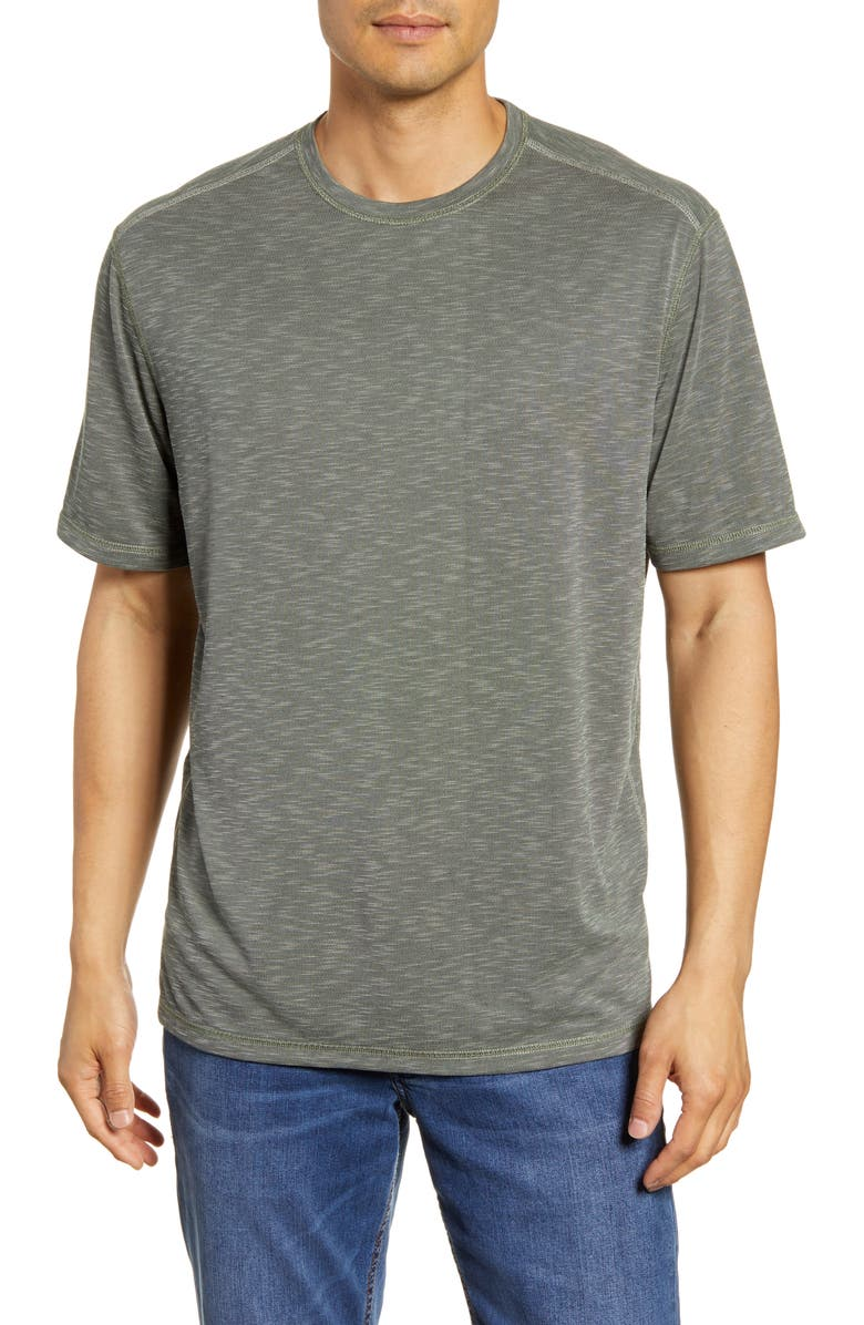 TOMMY BAHAMA Flip Tide Reversible T-Shirt, Main, color, PALM MOSS