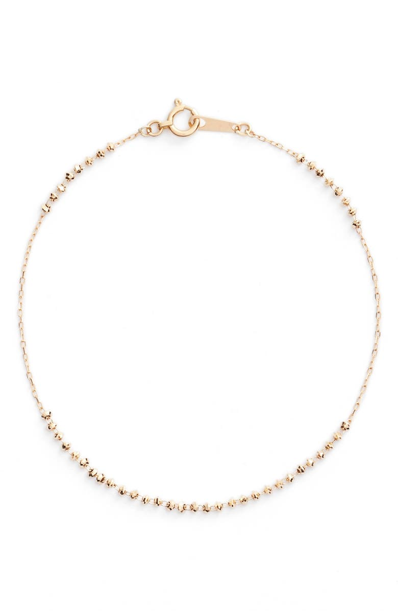 POPPY FINCH Shimmer Line Bracelet, Main, color, YELLOW GOLD