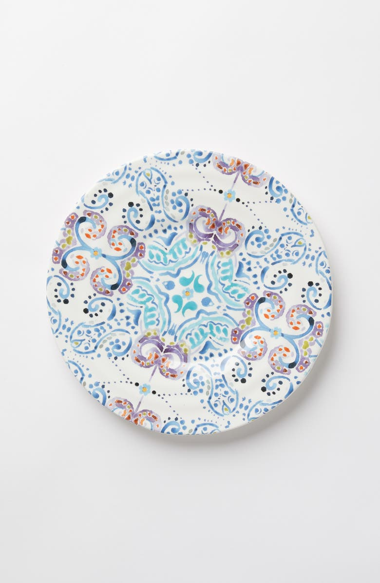 ANTHROPOLOGIE House of Mirrors Earthenware Side Plate, Main, color, HOUSE OF MIRRORS