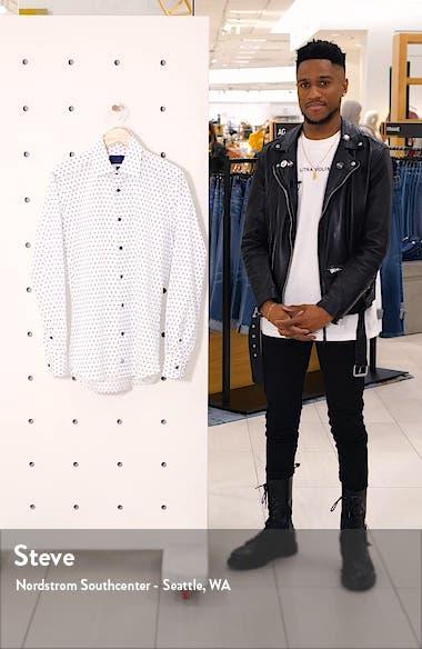 Trim Fit Geometric Dress Shirt, sales video thumbnail