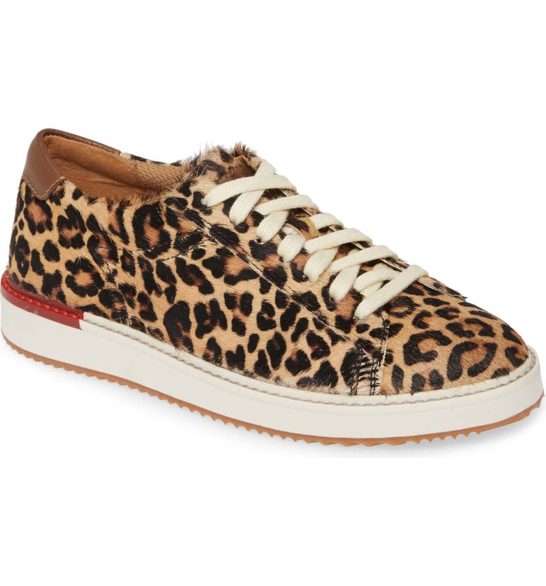 HUSH PUPPIES<SUP>®</SUP> Sabine Genuine Calf Hair Sneaker, Main, color, LEOPARD CALF HAIR