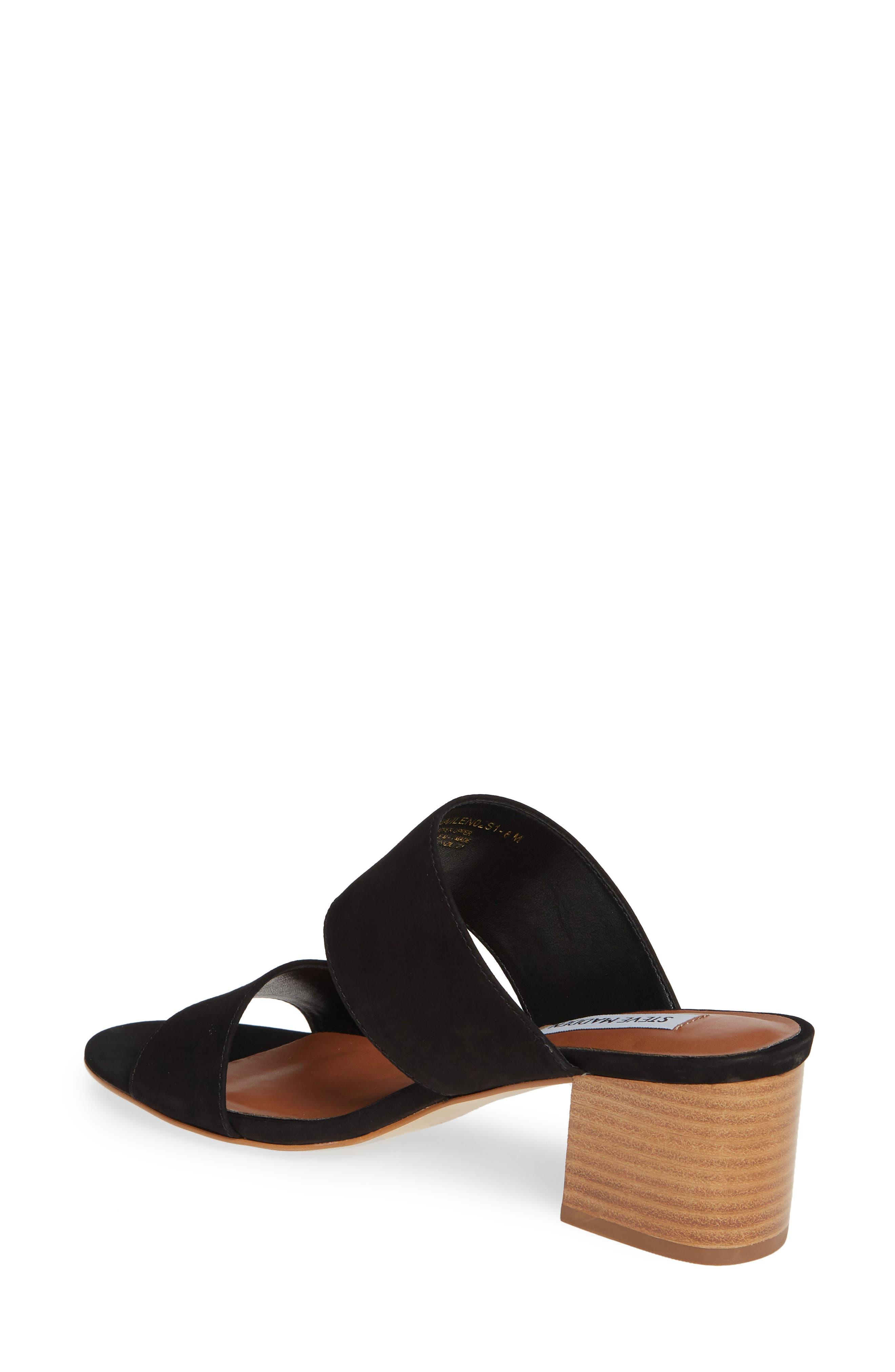 ,                             Ilena Block Heel Slide Sandal,                             Alternate thumbnail 2, color,                             BLACK