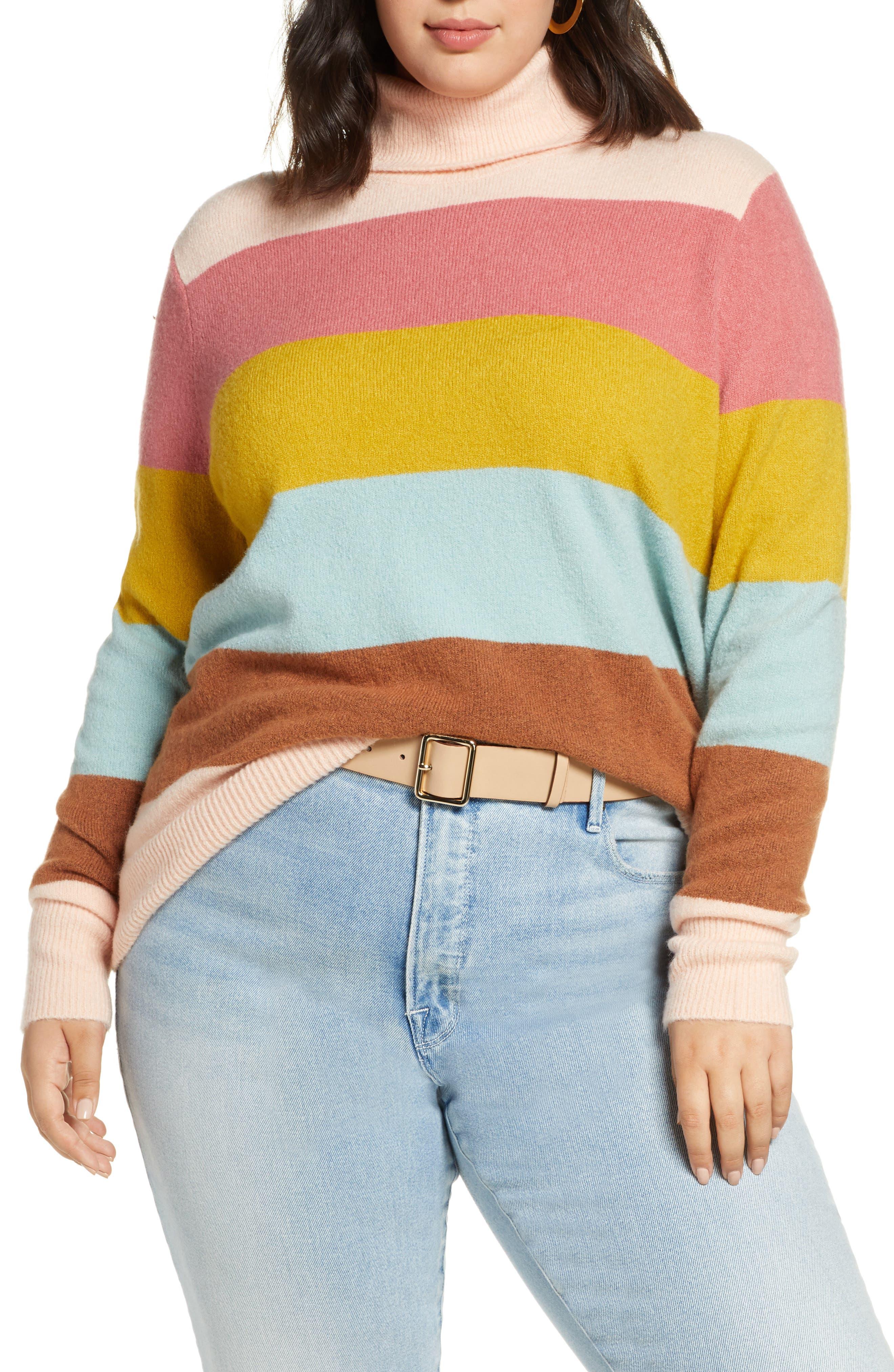 Halogen® Turtleneck Sweater (Plus Size)