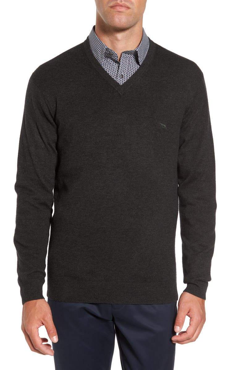 RODD & GUNN 'Inchbonnie' Wool & Cashmere V-Neck Sweater, Main, color, MOSS