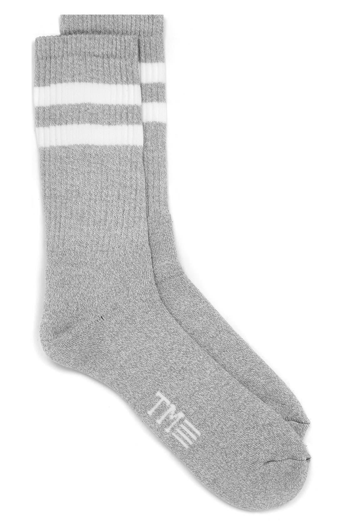 ,                             Stripe Crew Socks,                             Alternate thumbnail 5, color,                             020