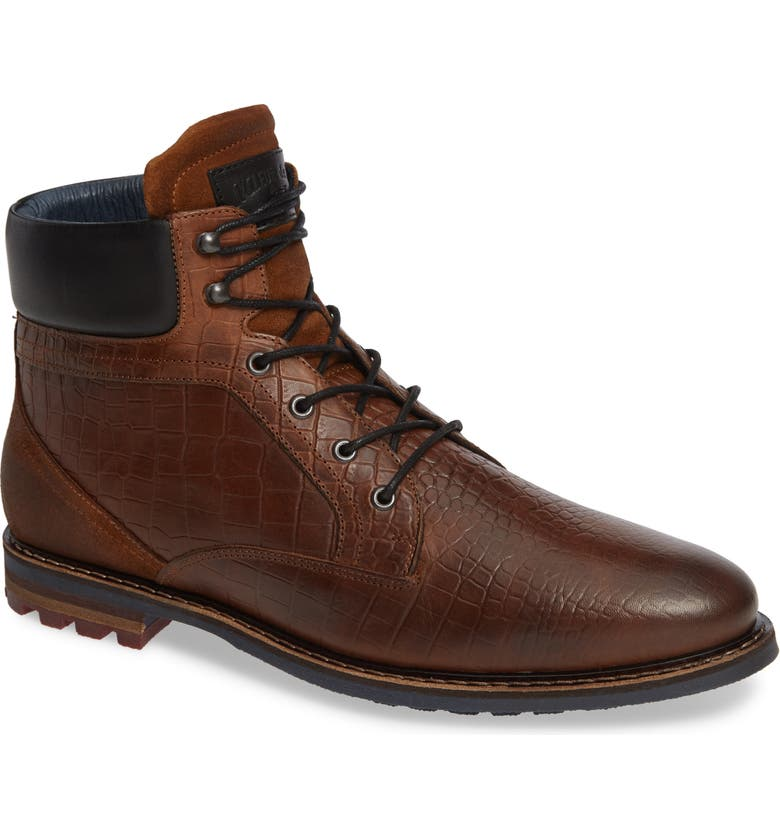 CYCLEUR DE LUXE Trooper Plain Toe Boot, Main, color, DARK COGNAC