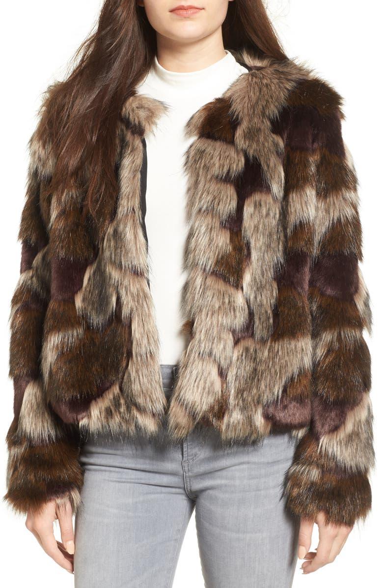 TULAROSA Faux Fur Coat, Main, color, 200