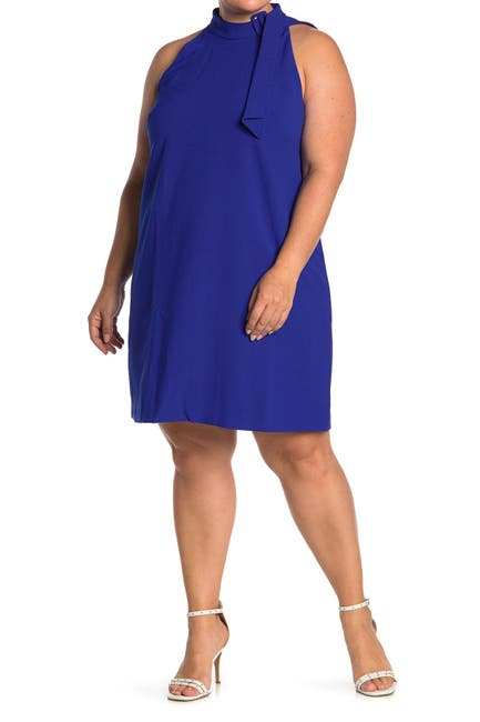 Image of Vince Camuto Crepe Buckle Neck Shift Dress