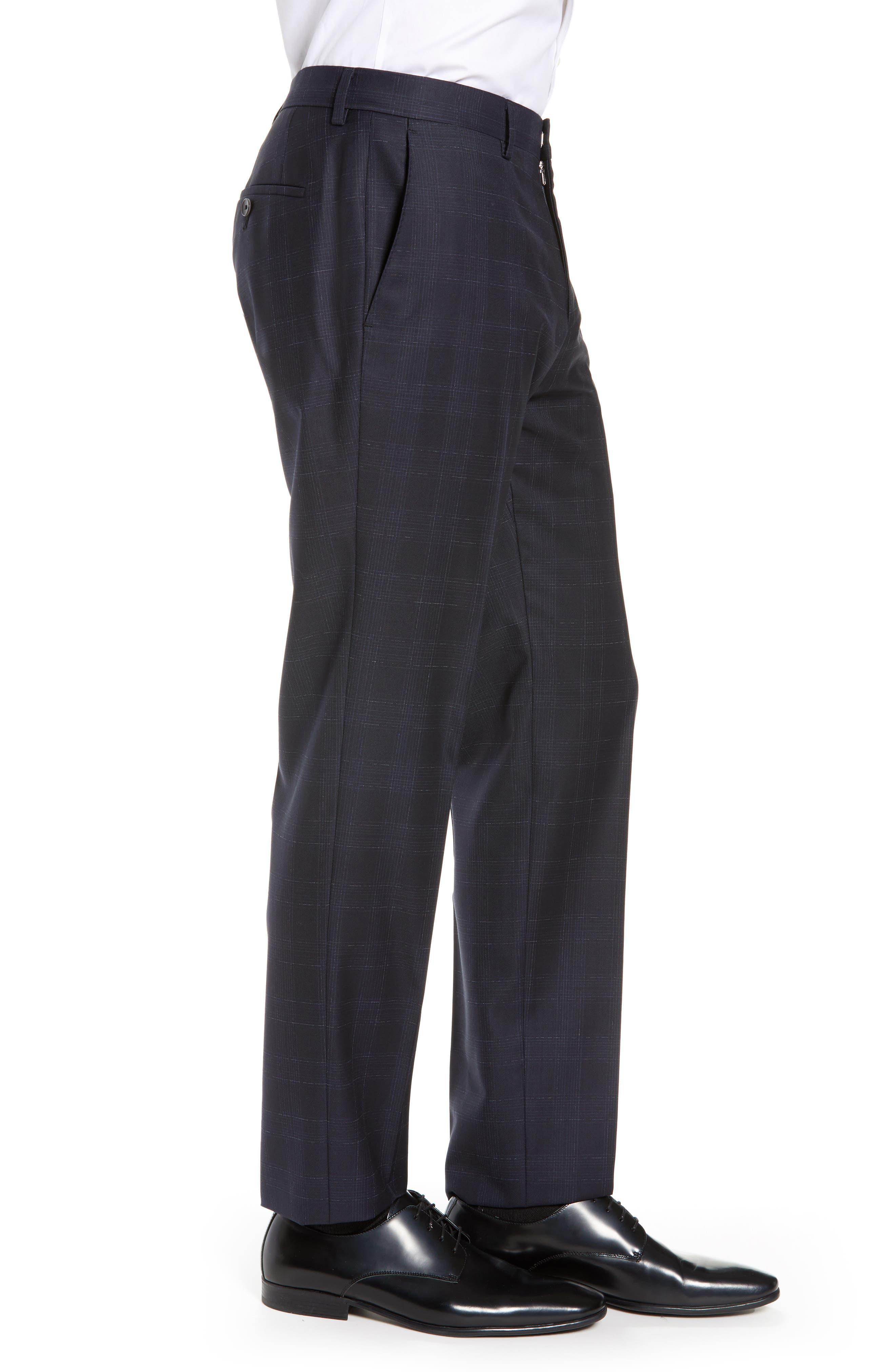 ,                             Genesis Flat Front Plaid Wool Trousers,                             Alternate thumbnail 9, color,                             411
