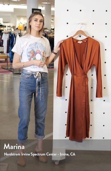 Long Sleeve Silk Wrap Dress, sales video thumbnail