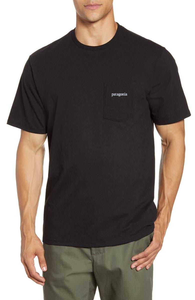 PATAGONIA Line Logo Ridge Responsibili-Tee Pocket T-Shirt, Main, color, BLACK