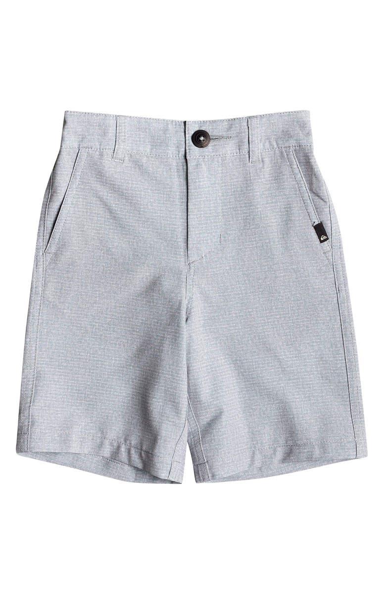 QUIKSILVER Union Heather Amphibian Hybrid Shorts, Main, color, SLEET
