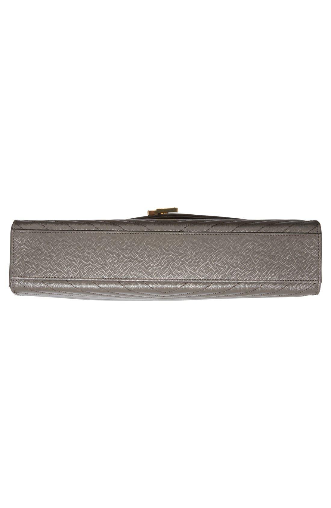 ,                             'Large Monogram' Grained Leather Shoulder Bag,                             Alternate thumbnail 18, color,                             020