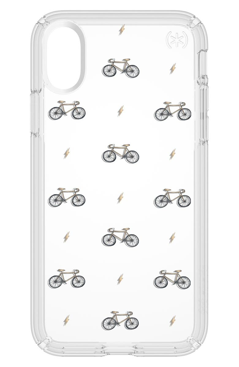 SPECK Bikes & Bolts Transparent iPhone X & Xs Case, Main, color, 798
