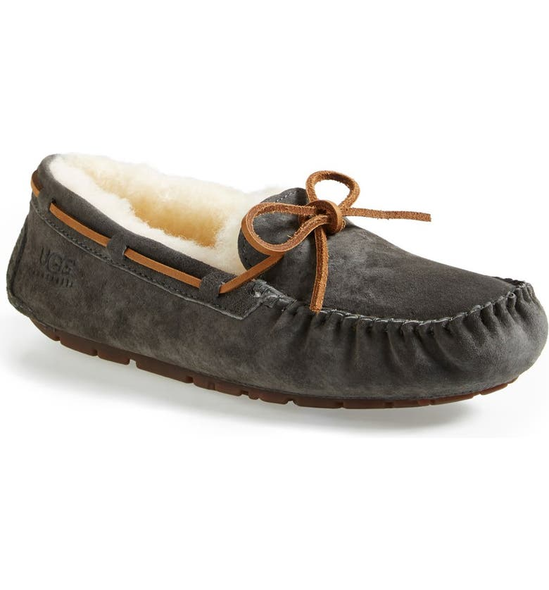 UGG<SUP>®</SUP> Dakota Water Resistant Slipper, Main, color, PEWTER