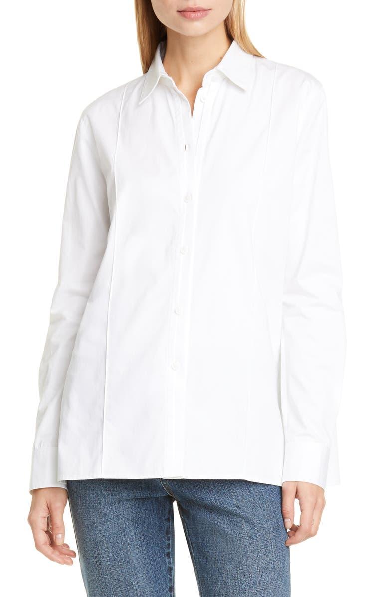 CO Cotton Shirt, Main, color, WHITE