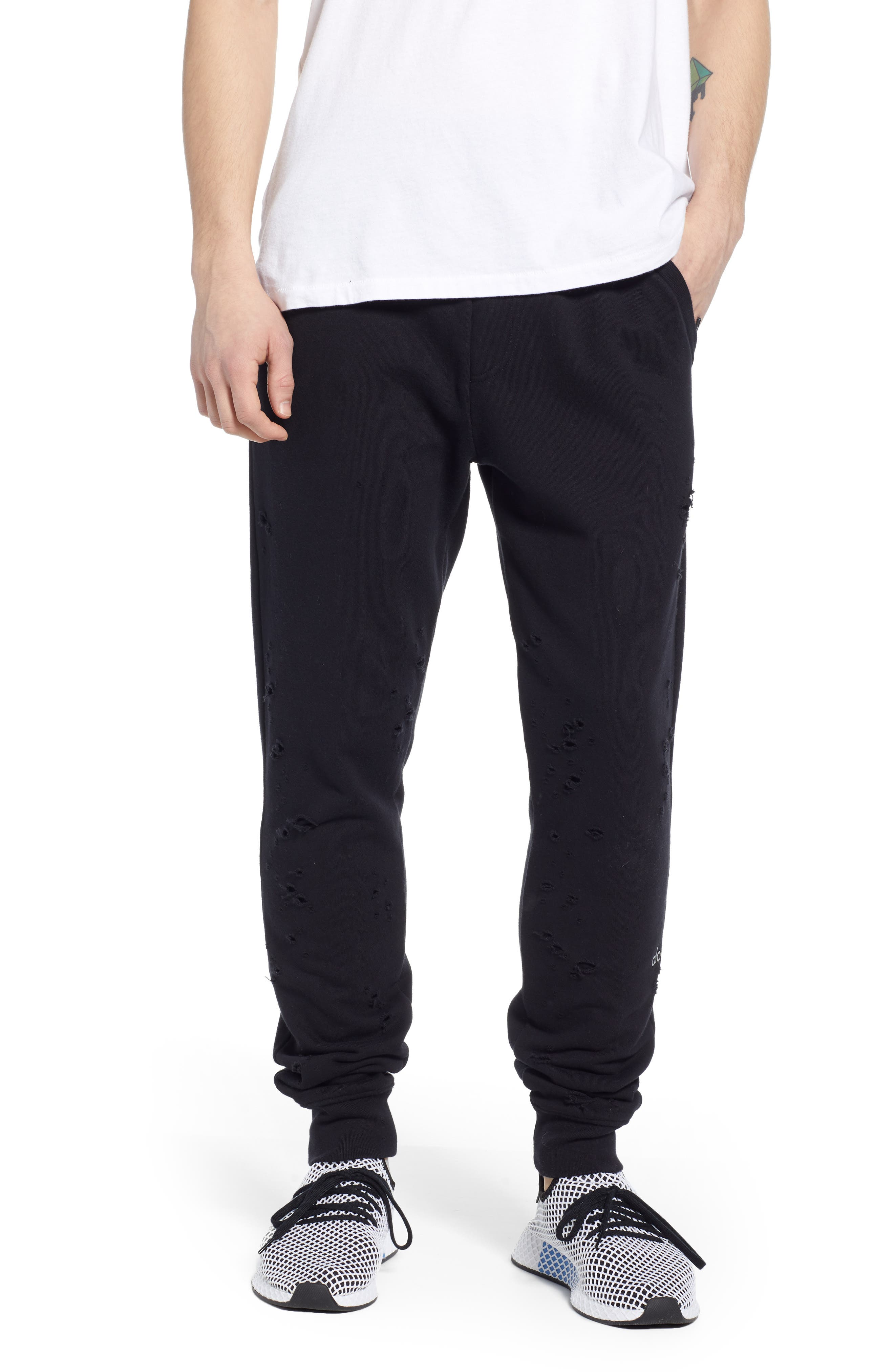 Alo Ripped Slim Fit Sweatpants