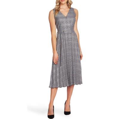 Vince Camuto Glen Plaid Fit & Flare Dress, Grey