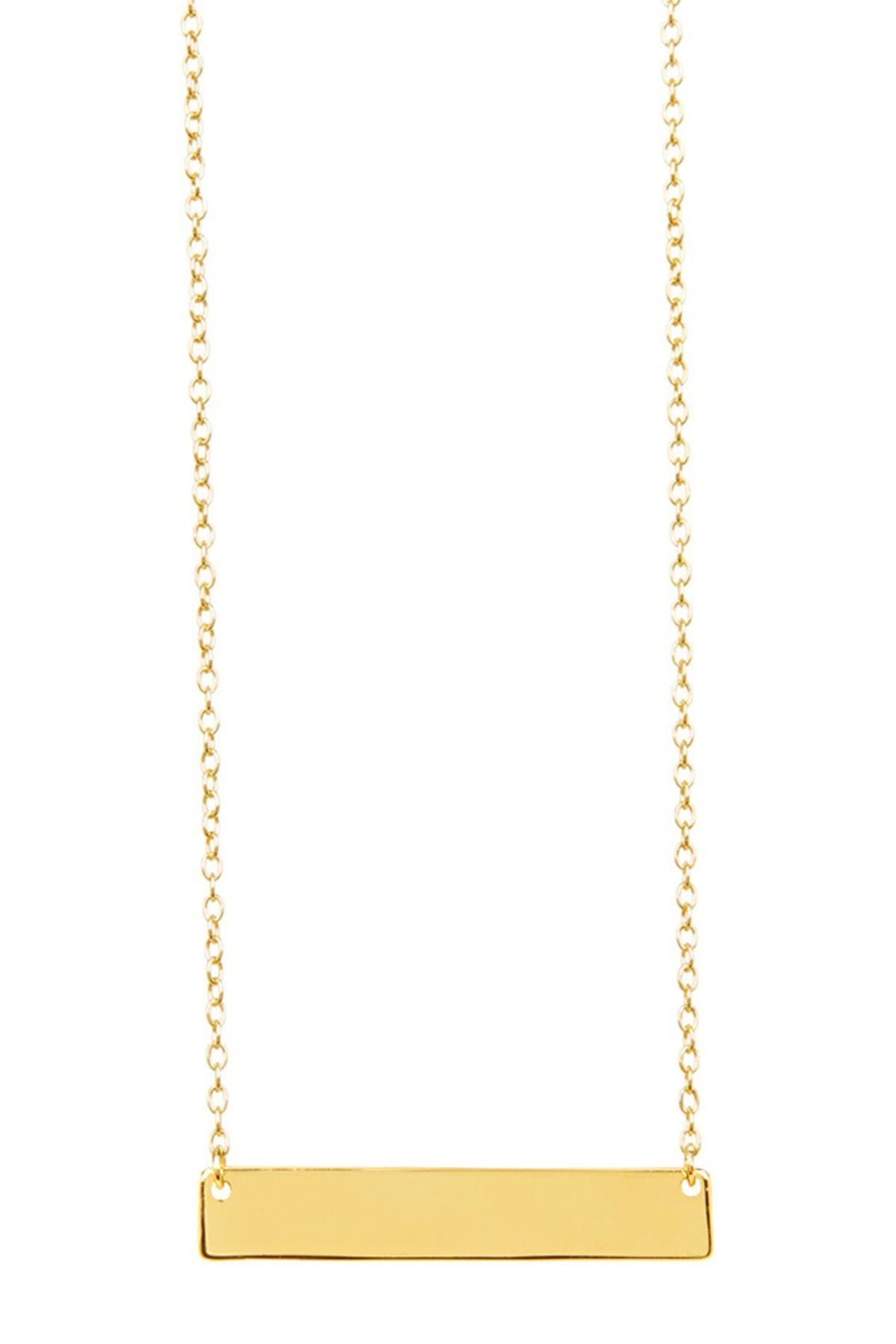 Image of Sterling Forever 14K Gold Sterling Silver Mini Bar Necklace