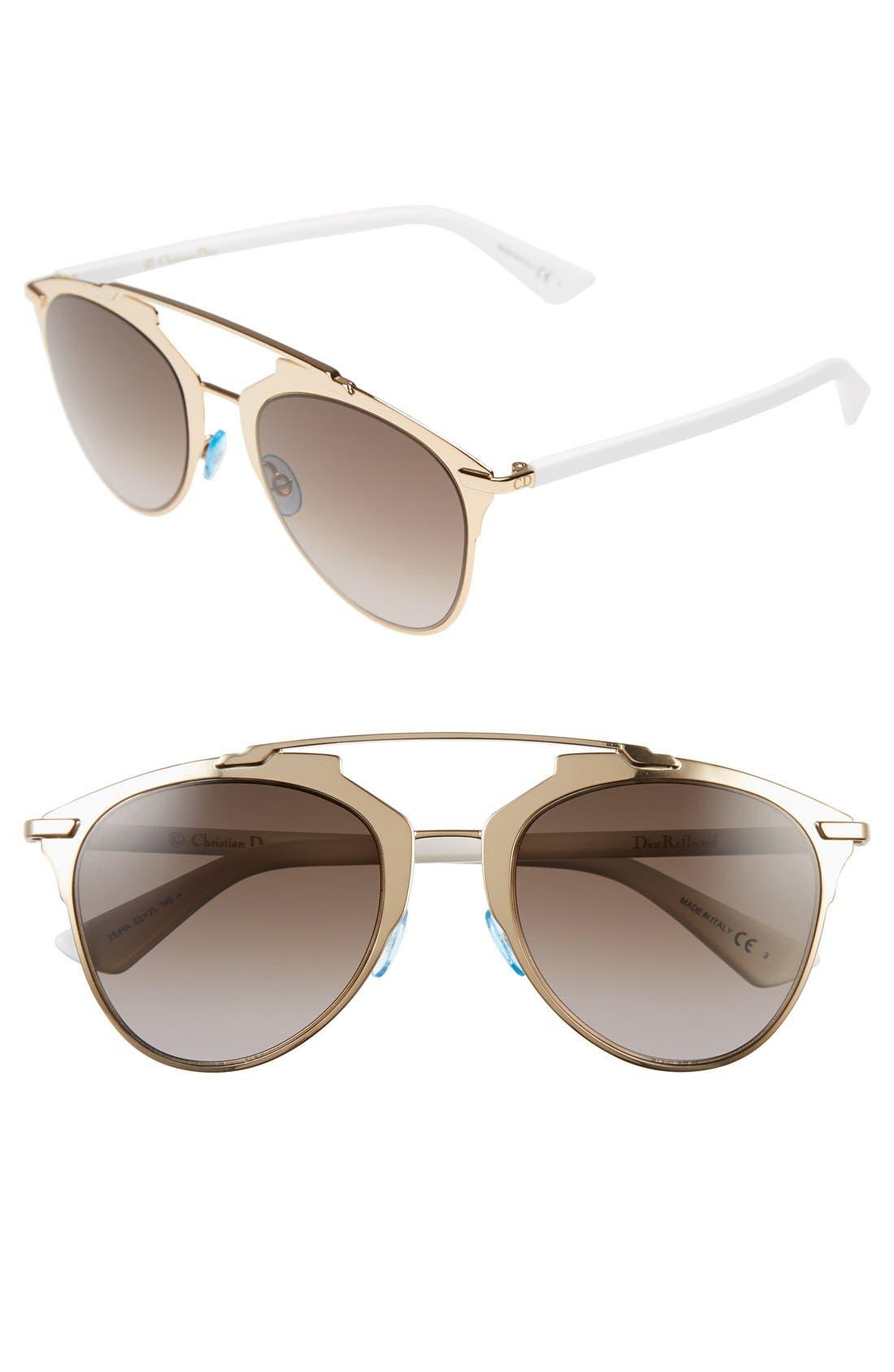 ,                             Reflected 52mm Brow Bar Sunglasses,                             Main thumbnail 30, color,                             710
