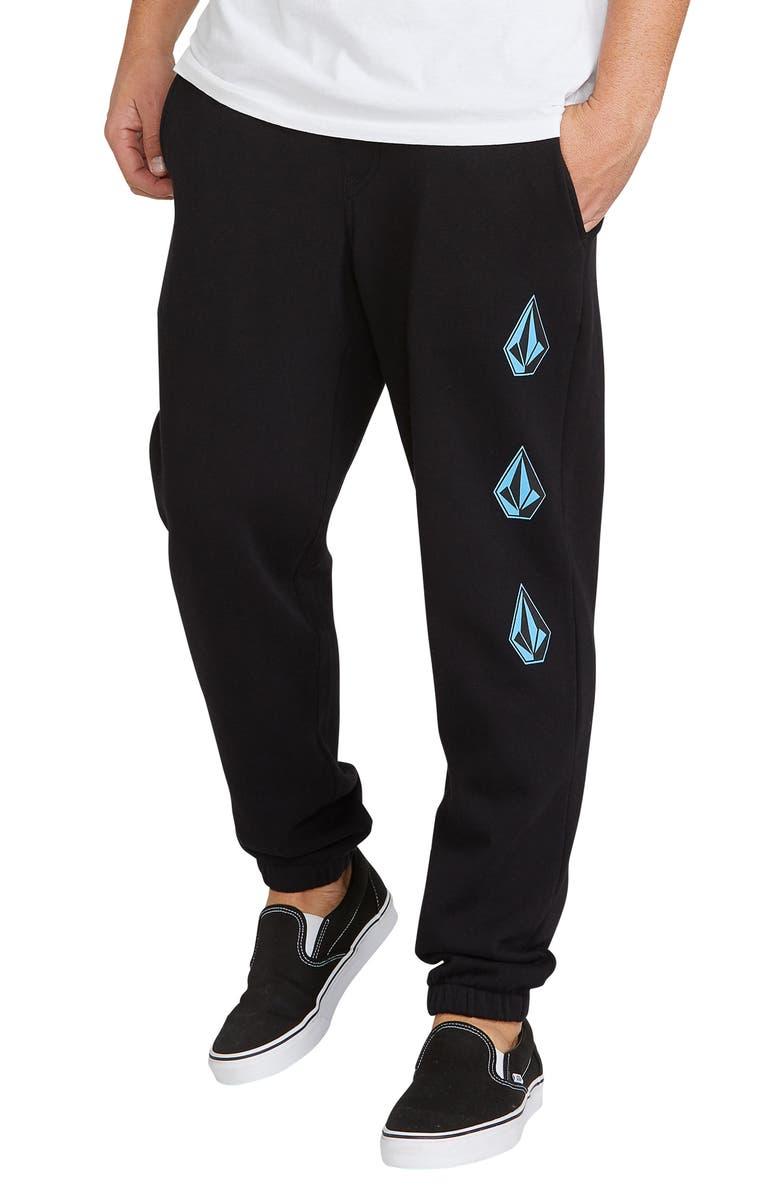 VOLCOM Deadly Stones Sweatpants, Main, color, BLACK