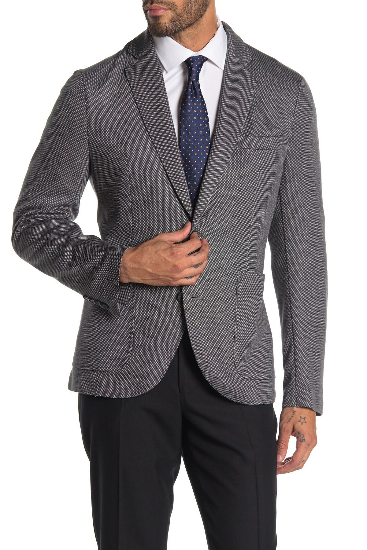 Image of 14th & Union Two Button Melange Knit Blazer