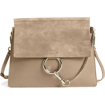 Chloe Faye Suede & Leather Shoulder Bag -