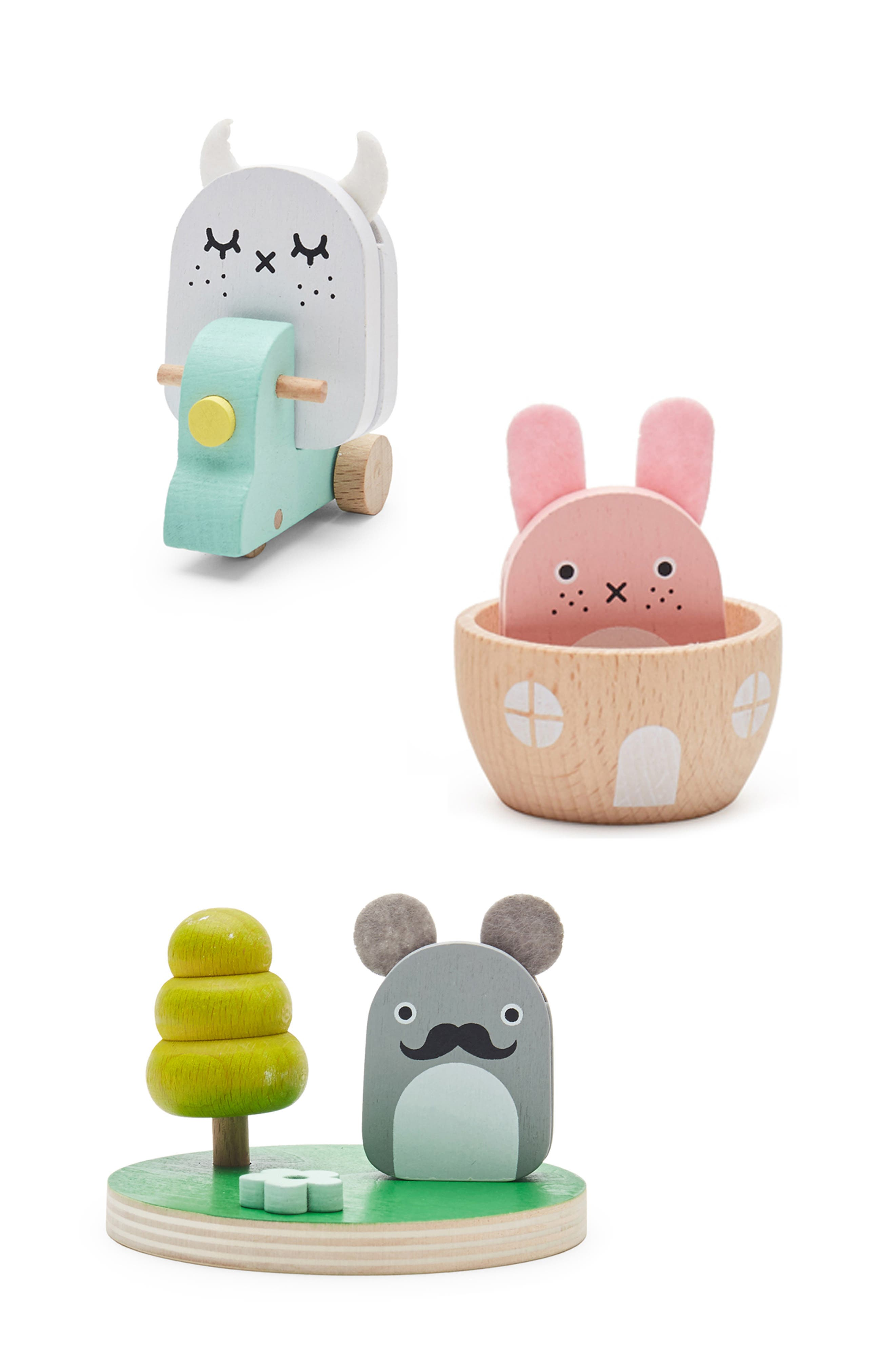 Noodoll X Kiko Ricetown 10Piece Magnetic Wooden Play Set