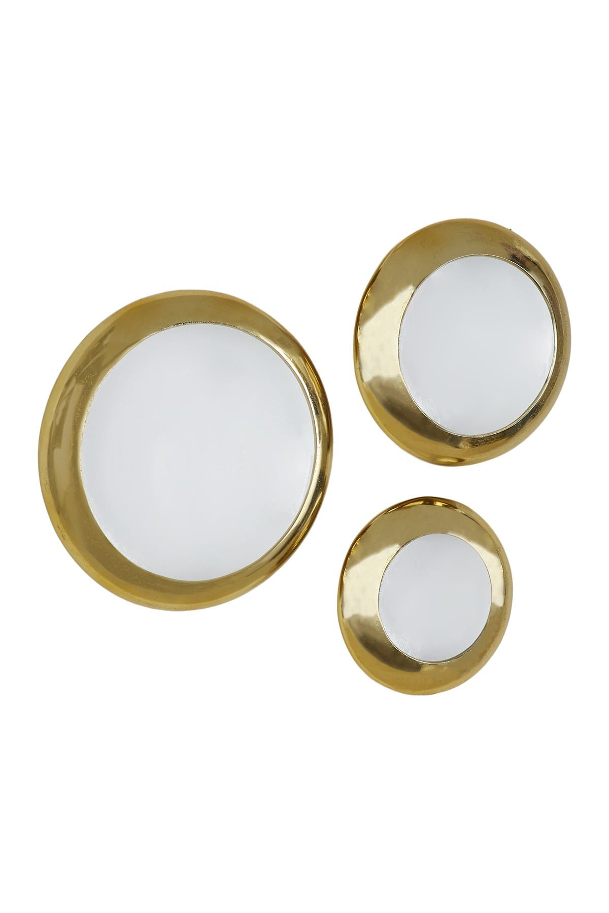 Venus Williams Collection Metallic Gold And White Round Metal Plate Wall Decor Set Of 3 19 15 12 Nordstrom Rack