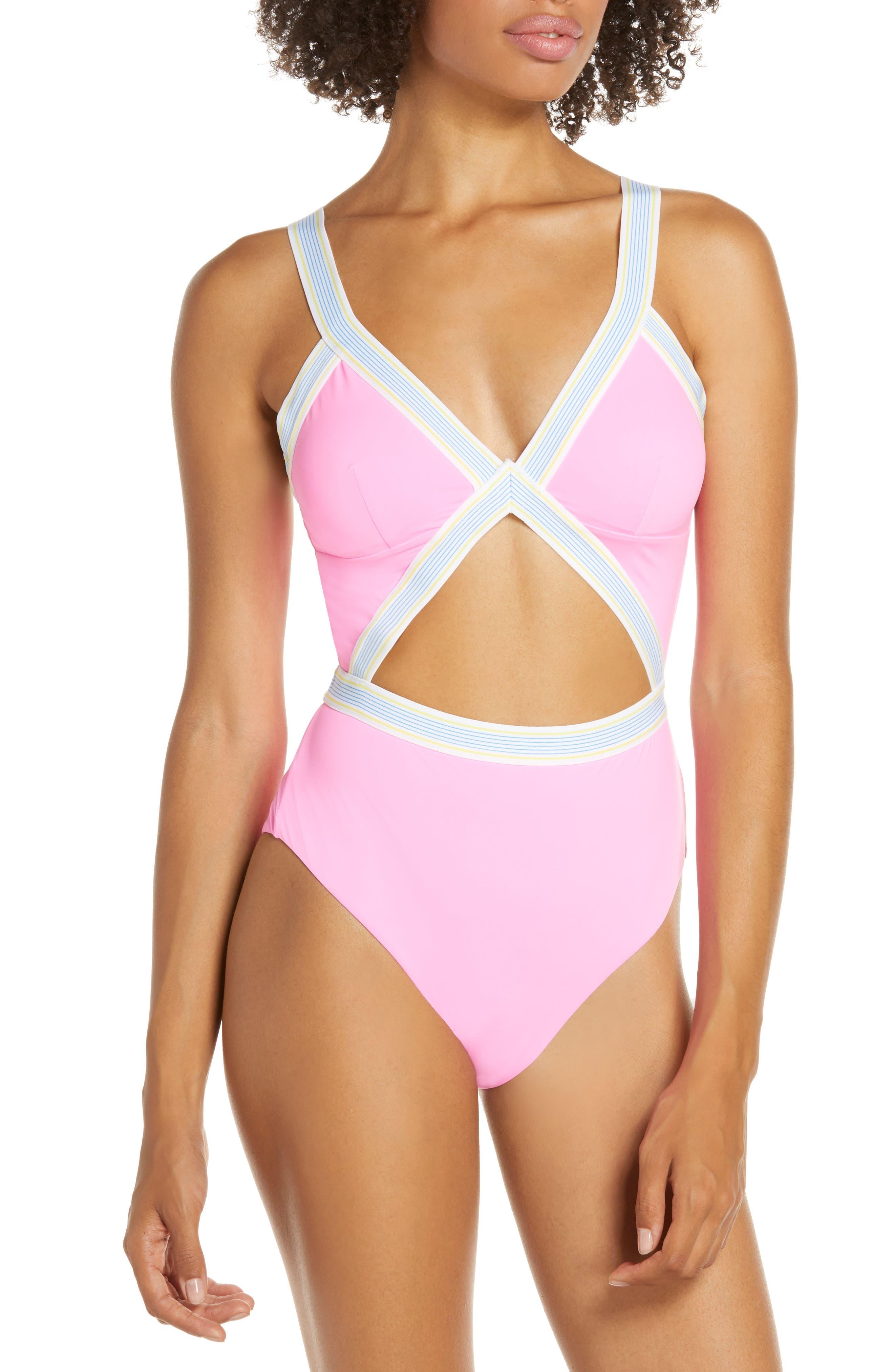 Dolce Vita Fast Lane One-Piece Swimsuit, Pink