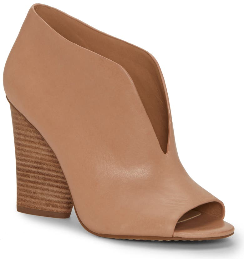 VINCE CAMUTO Andrita Open Toe Bootie, Main, color, MOROCCO LEATHER