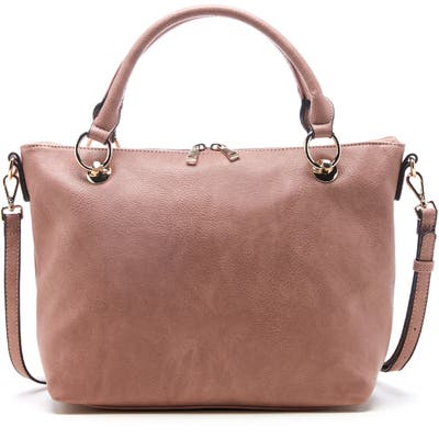 Sole Society Faux Leather Satchel - Pink