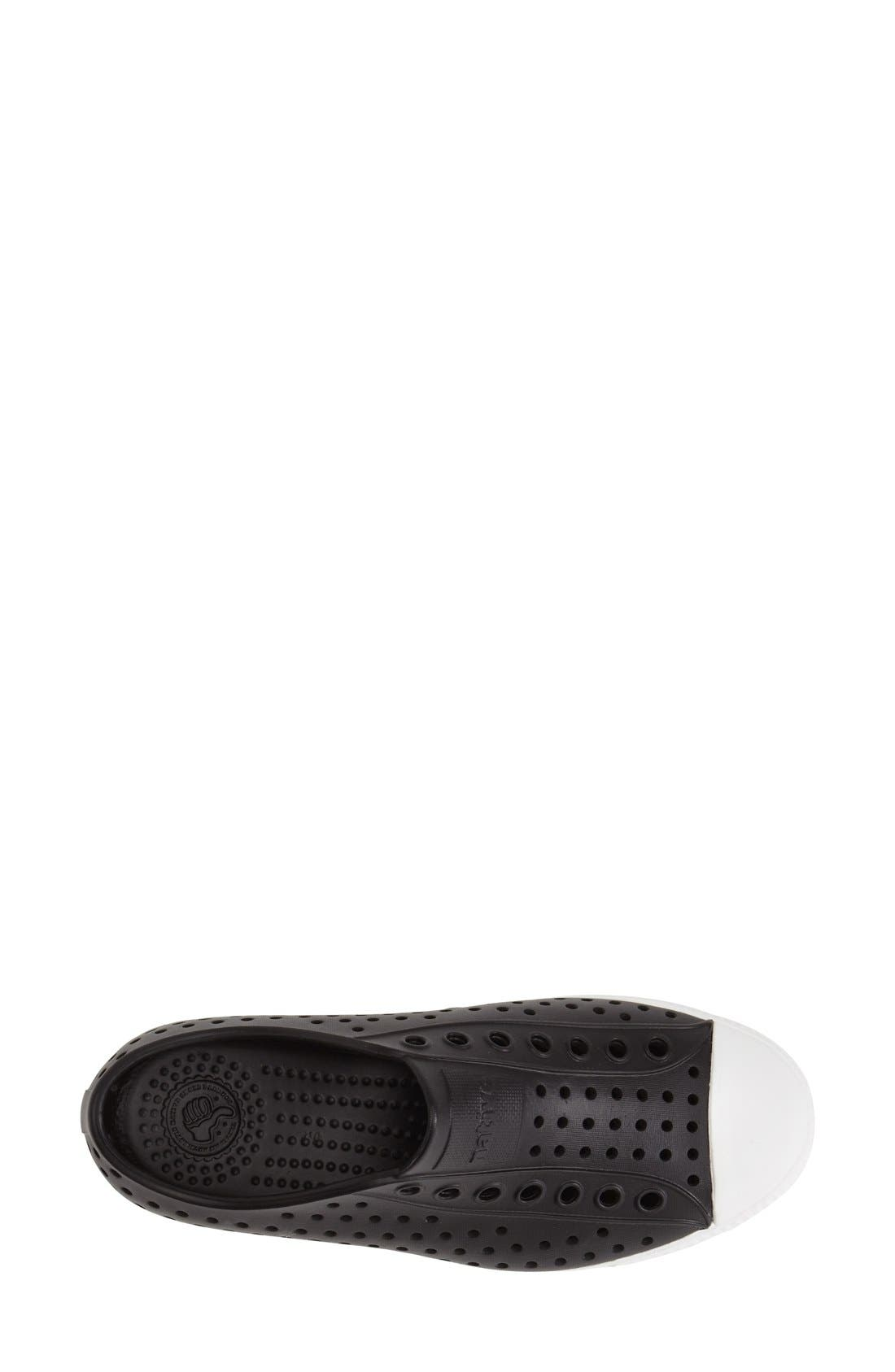 ,                             Jefferson Vegan Perforated Sneaker,                             Alternate thumbnail 3, color,                             BLACK/ WHITE