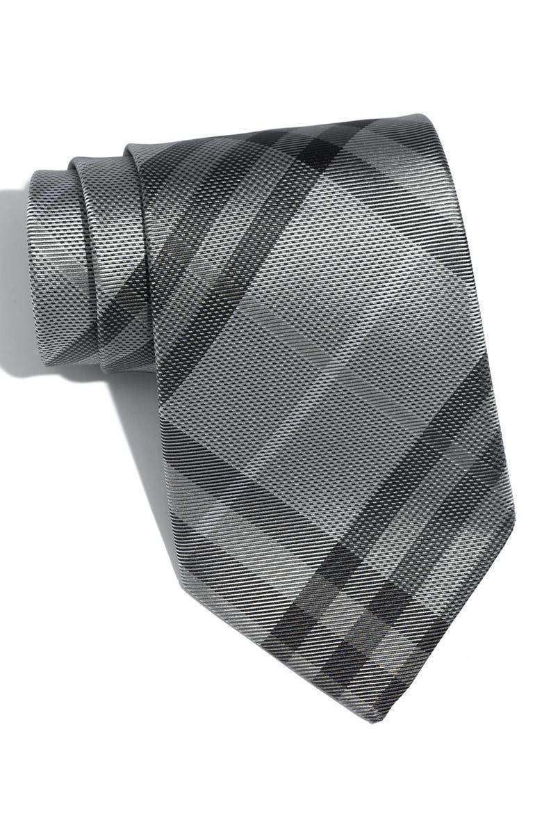BURBERRY London 'Regent' Woven Silk Tie, Main, color, 050