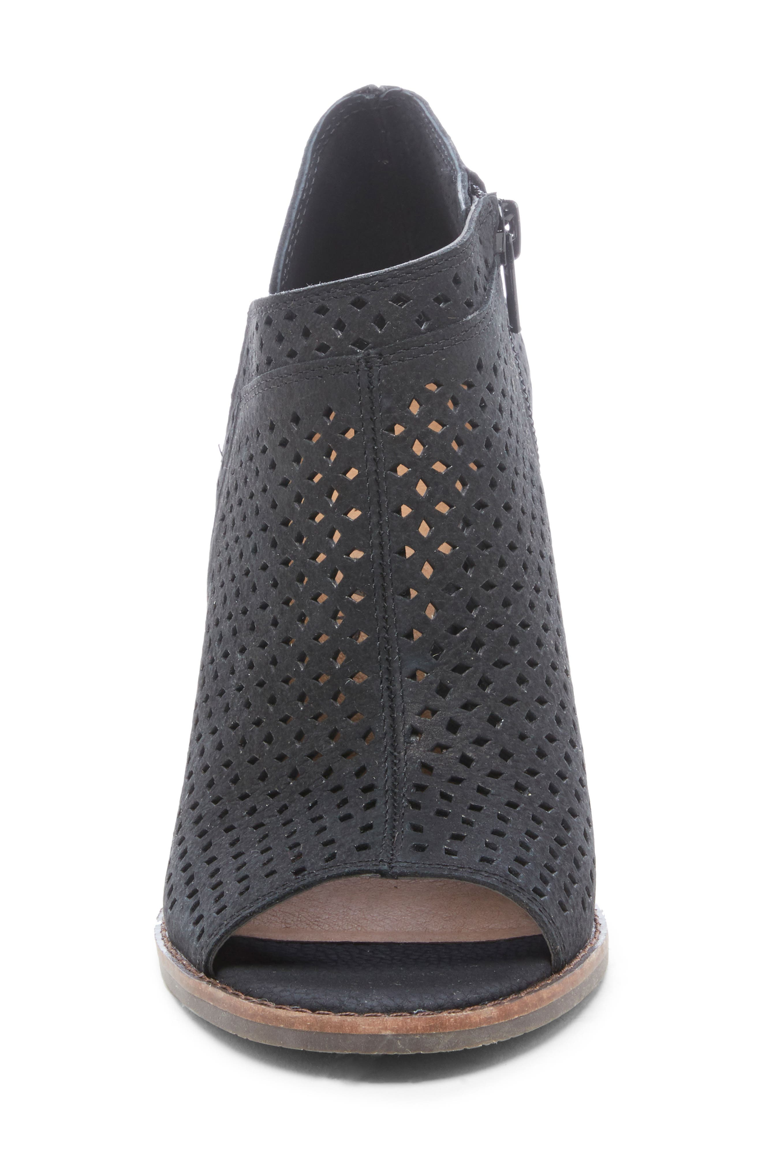 ,                             Jazley Wedge Bootie,                             Alternate thumbnail 4, color,                             BLACK NUBUCK LEATHER