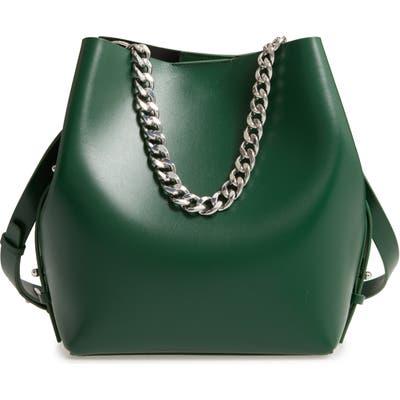 Rebecca Minkoff Medium Kate Convertible Leather Bucket Bag - Green