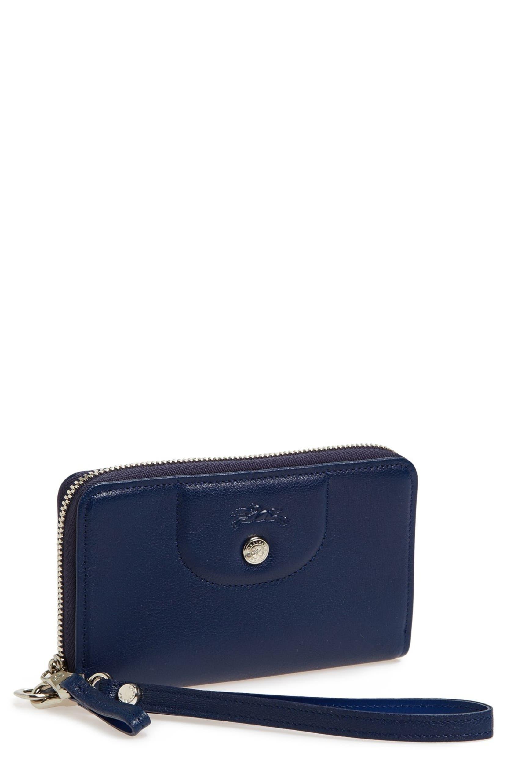 4072afc6bd Longchamp 'Le Pliage - Cuir' Zip Around Wallet | Nordstrom