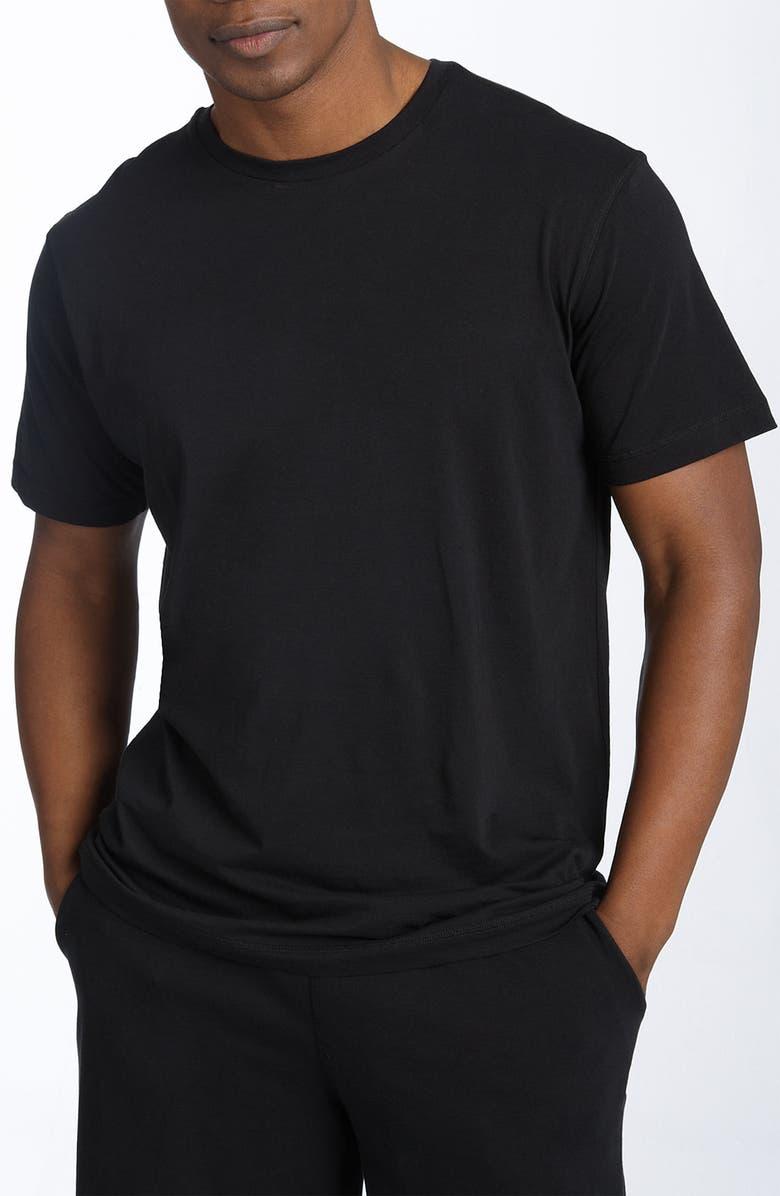 DANIEL BUCHLER Peruvian Pima Cotton T-Shirt, Main, color, BLACK