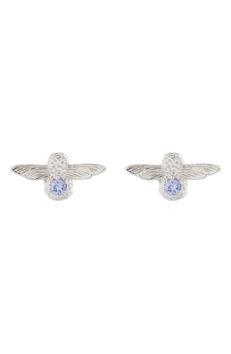 OLIVIA BURTON 3D Bejeweled Bee Stud Earrings, Main, color, 040