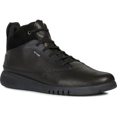 Geox Aerantis 4 High-Top Sneaker, Black
