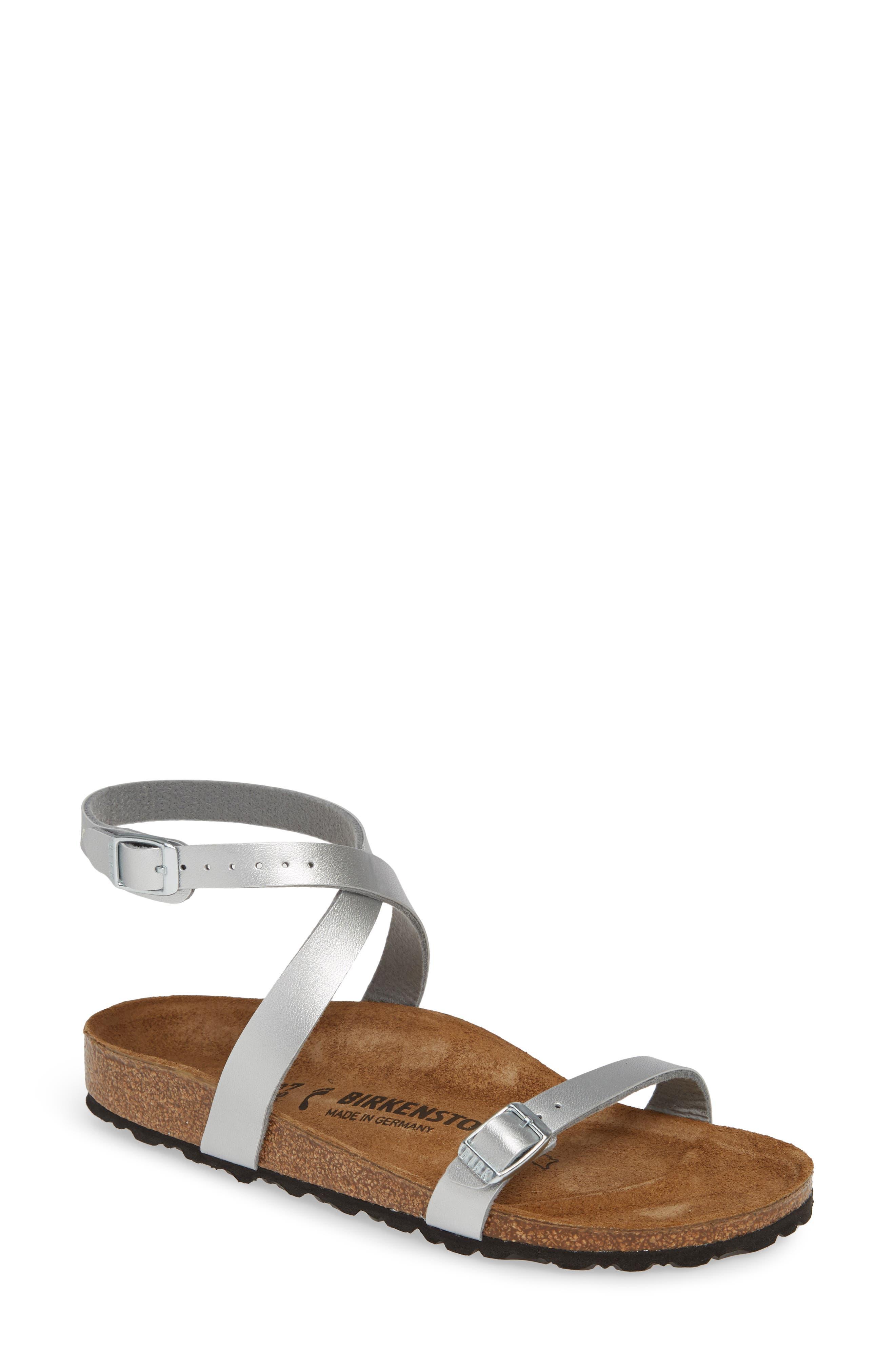 Birkenstock Daloa Ankle Strap Sandal, Metallic