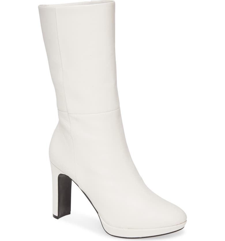 CALVIN KLEIN Pebbles Boot, Main, color, WHITE LEATHER