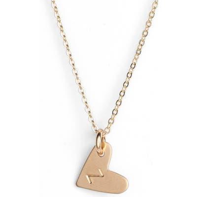 Nashelle 14K-Gold Fill Initial Mini Heart Pendant Necklace