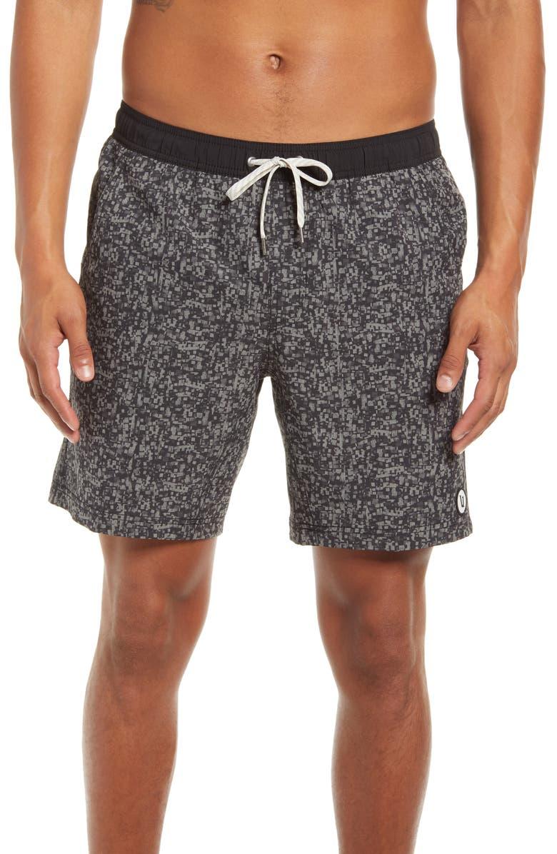 VUORI Kore Shorts, Main, color, GREY LINEN TEXT DIGI