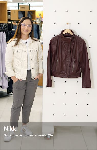 Chelsea 28 Leather Moto Jacket, sales video thumbnail