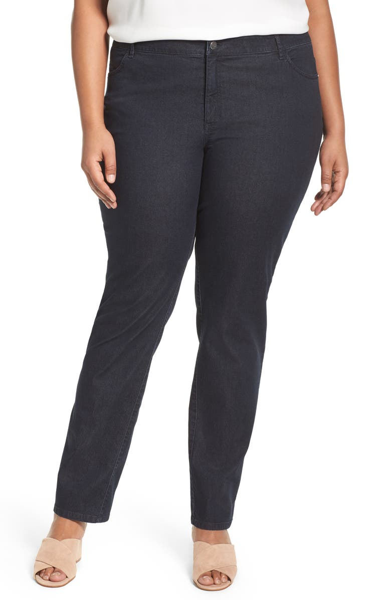 LAFAYETTE 148 NEW YORK Thompson Stretch Bootcut Jeans, Main, color, INDIGO