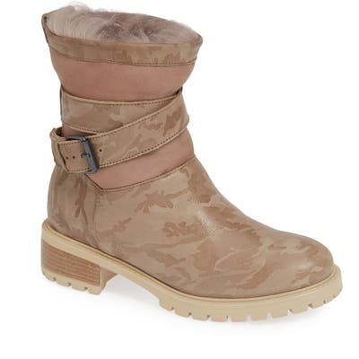 Ross & Snow Emilina Genuine Shearling Lined Weatherproof Bootie, Beige