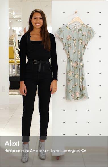 Lita Floral Print Silk Blend Dress, sales video thumbnail